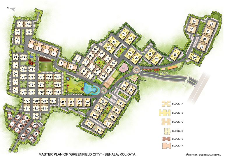 Greenfield city for Apartment master plans