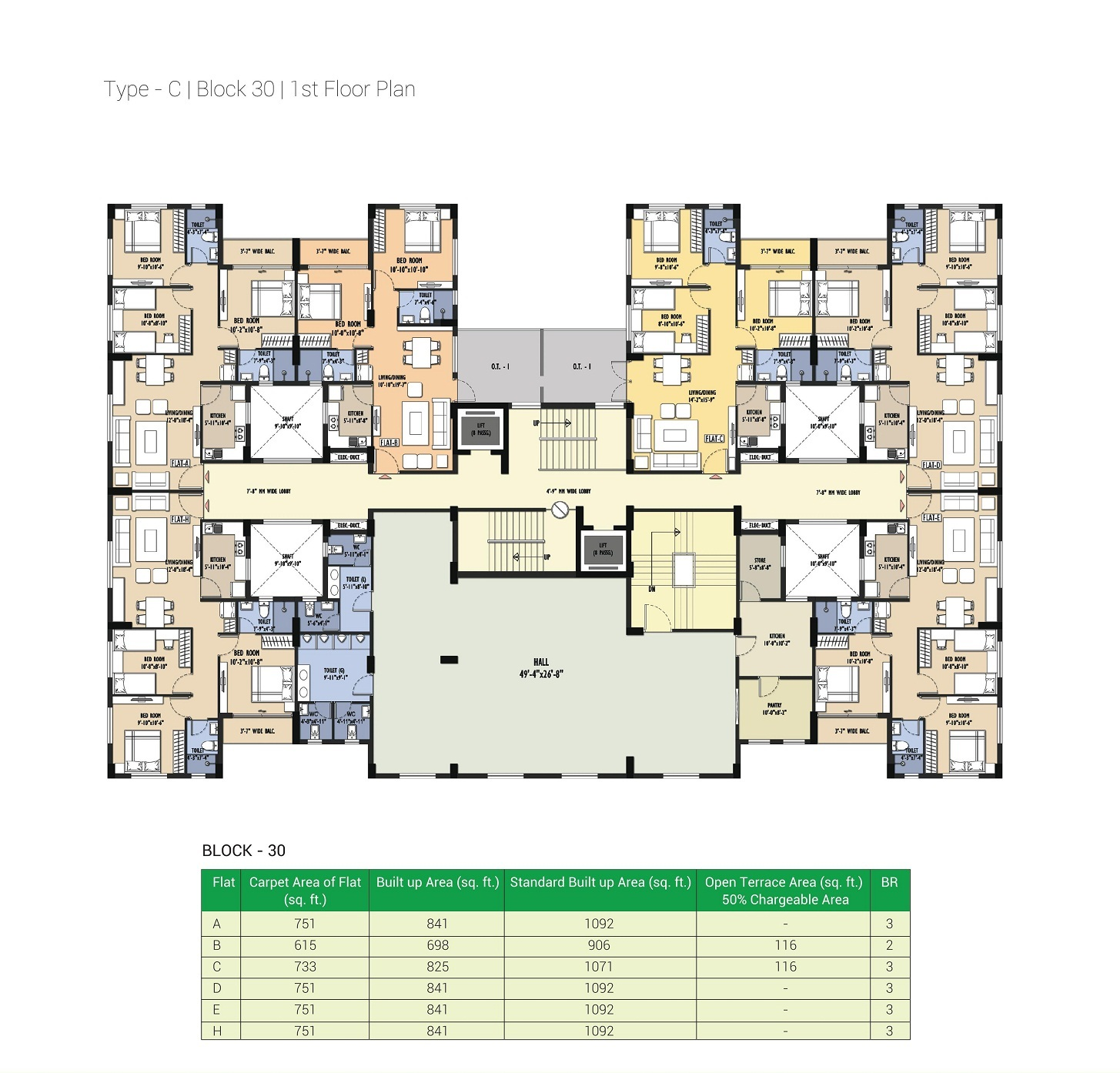 Block 30 - 1st Floor Plan