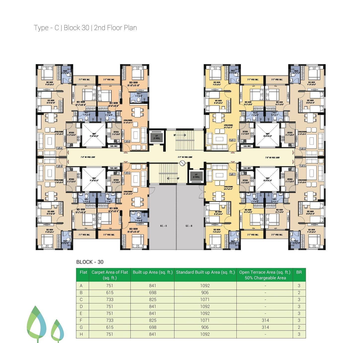 Block 30 - 2nd Floor Plan