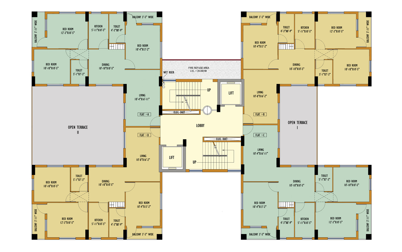 Block 50 Typical Floor Plan
