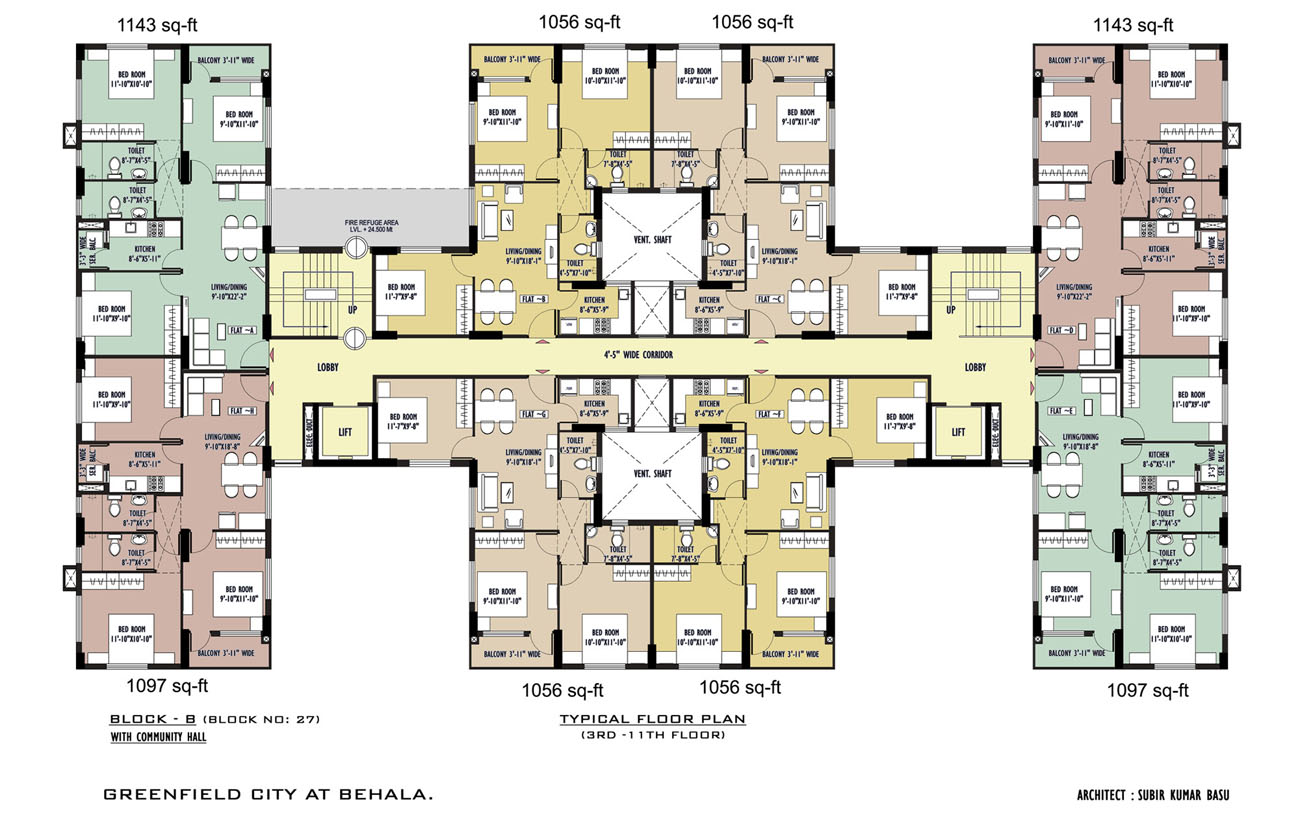 Block 27 Typical Floor Plan