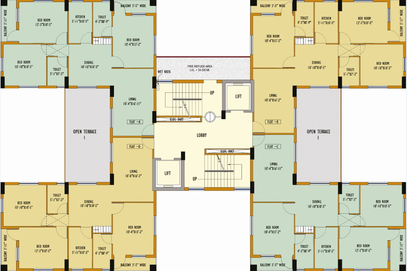 Block 41 Typical  Floor Plan