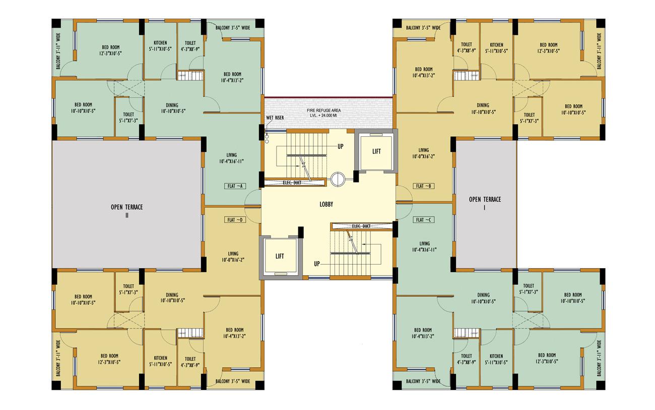 Block 41 Typical Floor Plan